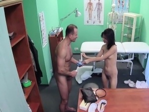 Doctor fucks his patient in office