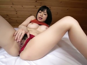 Teen Airi Minami stripping down to her birthday suit and plays with herself