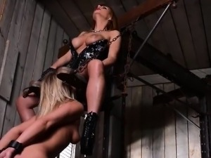 Beautiful fetish bottom actions with latex and bdsm