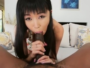 Petite Asian Marica Hase Interracial Anal Sex in HD mc15033