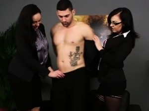 Kinky cfnm mistress blows