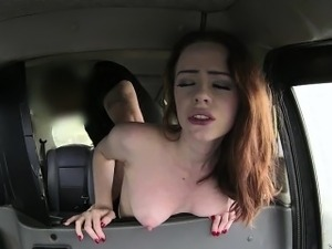 British skinny Bitch gets to suck and fuck a drivers cock