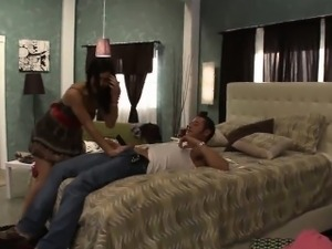 Skinny wench gets drilled really hard