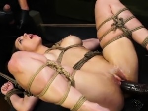Cute girl Kylie loves rough and hard bondage sex action