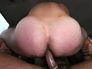 Redhead fucked cum on tits