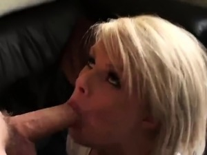 Adorable Bonnie rides cock on a leather couch like a pro