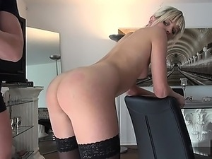 naughty-hotties net - blonde hottie spanking, anal and swall