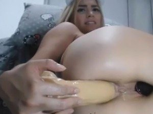 Big White Ass Anal Toying