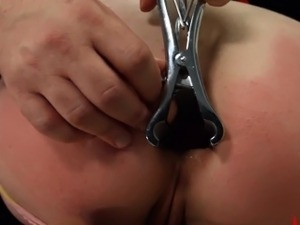 BDSM penetrating in analland with slut fucked extremely
