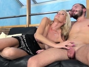 Hot blonde MILFs are the best, and this one is hot. She