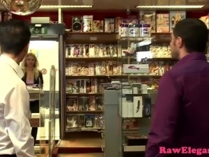 Euro shoplifter punished with doublepenetration