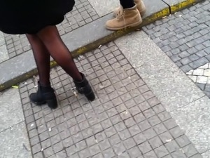 candid pantyhose 664