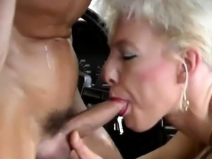 German wife picked up for hot car sex