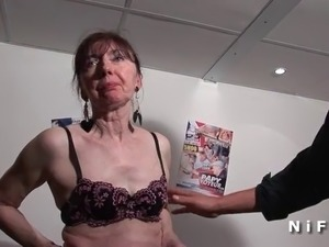 Naughty french mature banged fist fucked and sodomized