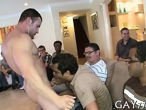 Those horny party boys love swallowing that jock