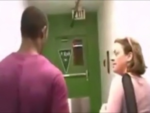 White Milf gets owned by black stranger in her apartment