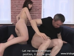 Naughty young bimbo is not afraid to take in her lover's hard fuck rod