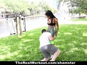 TheRealWorkout - Hot Fitness Guru Fucked During Workout