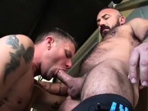 Chris doesnt waste a moment going down on Alessio fat cock