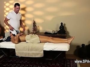 Very tricky massage room of subtle masseur
