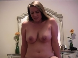 Mature cocksucker is not afraid to flash her massive breast