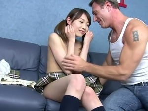 Japanese cute young girl anal