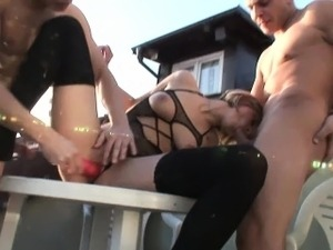 Two handsome guys get to explore Bianca Ferrero
