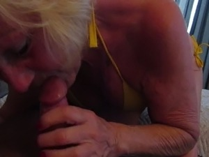 Mature does what she loves best