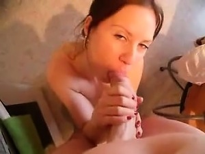 Gifted french lady swallows cock sperm that is huge