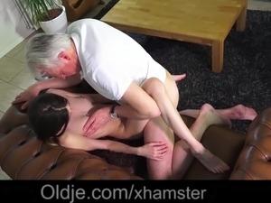 Grandpa Pussy Fucking Teen Pierced Tongue Facial Cumshot