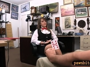 Card dealer pounded by nasty pawn guy at the pawnshop