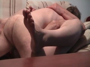 Wife with hairy cunt gets missionary fucked