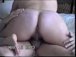 Here is my BBW ex mistress fucking my knee while she sucks my dick and then I...