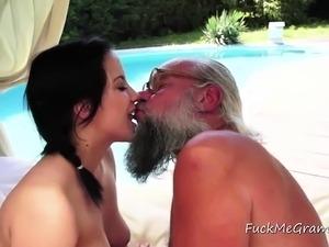 Grandpa's ass penetration