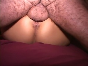 Fat ass slut MILF uses hairy old dude just for her own orgasms. Grinds her...