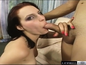 Bodacious brunette Ali Kat gets her tight peach filled with hot semen