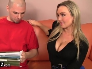 WANKZ - Busty Blonde Fucks Her Mechanic!