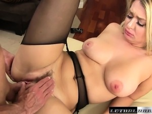 Seductive Natalia Starr enjoys sucking her stepbrother's fat piston