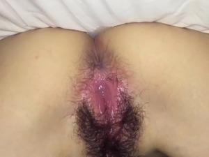Cumming in Japanese girls pussy