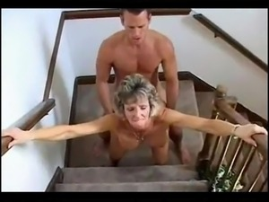 hubby can't see us in stairs