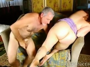 Super cute chubby old spunker is such a hot fuck & loves cum