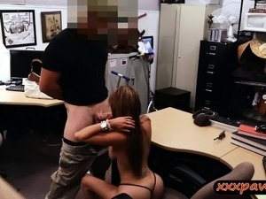 Busty latina sells gun and screwed by nasty pawn guy