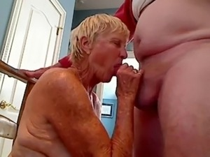 Grandma sucks cock to grandpa