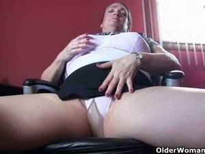 Voluptuous gilfs Love Goddess and Lisa expose their natural big tits and hot...