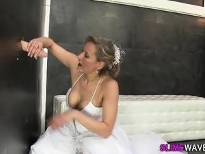 Glam bride gets bukkaked