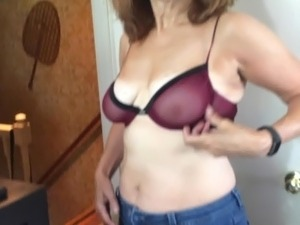 Another new bra - trying it on