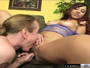 Horny Nick East makes love to sexy Veronique's sweet cunt with his tongue and...