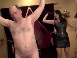 Goddess Angelina stripped, whipped and ripped part 2 FemDom