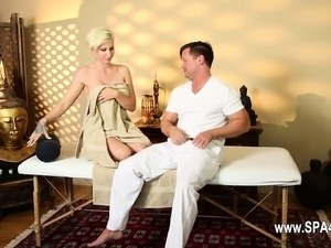 Very tricky spa of adorable masseur