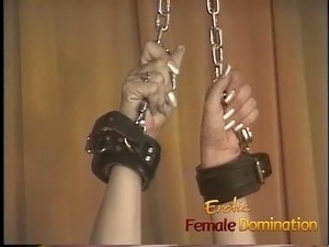 A beautiful short-haired blonde is a slave that can't be broken Femdom,...